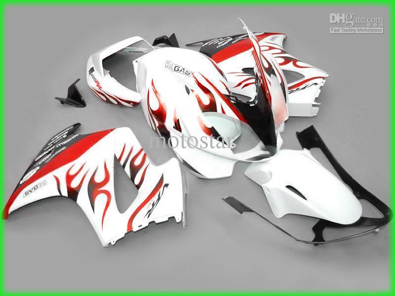 Kit de carénage Free Flame Red Flame pour intercepteur HONDA VFR800 VFR800RR VFR 800 2002 - 2007 02 07 kits de carénages
