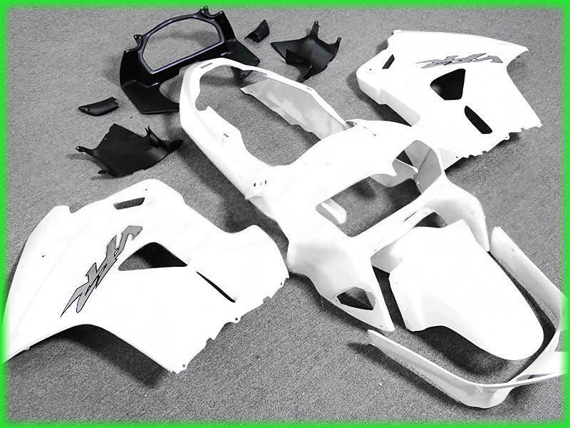 Kostenloses Schiff All White Fairing Kit für 1998 1999 2000 2001 Honda VFR800RR Interceptor VFR800 VFR 800 98 01