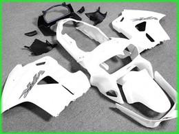 Deutschland Geben Sie Schiff alle weißen Verkleidung Kit für 1998 1999 2000 2001 Honda VFR800RR Interceptor VFR800 VFR 800 98 01 cheap fairings for honda interceptor Versorgung