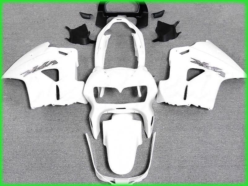 Fri skepp All White Fairing Kit för 1998 1999 2000 2001 Honda VFR800RR Interceptor VFR800 VFR 800 98 01