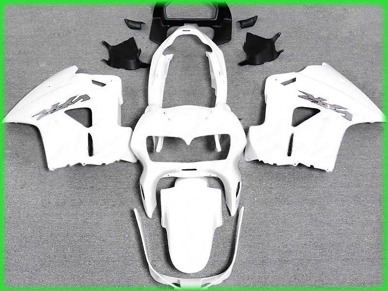Kit de carénage gratuit tout blanc pour 1999 1999 2000 2001 Intercepteur Honda VFR800RR VFR800 VFR 800 98 01