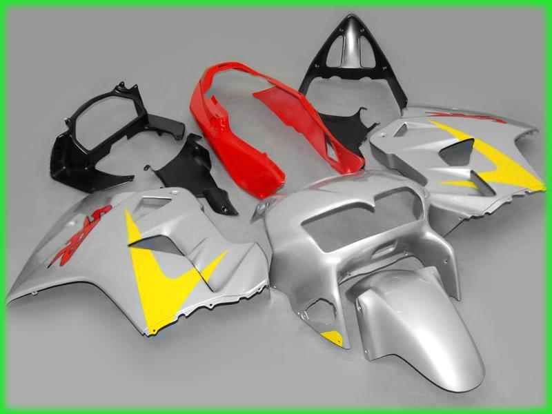 Kostenloses Schiff Silber Verkleidungsset für Honda VFR800RR 1998 1999 2000 2001 Interceptor VFR800 VFR 800 98 99 00 01