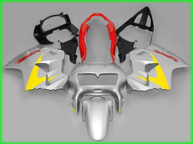 Gratis Ship Silver Fairing Kit för Honda VFR800RR 1998 1999 2000 2001 Interceptor VFR800 VFR 800 98 99 00 01