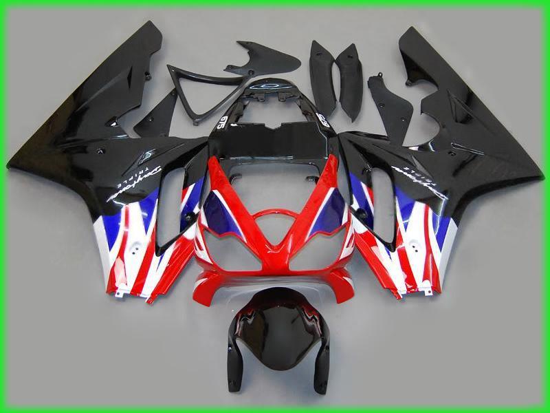 Kit carenado negro / blanco / rojo / azul para carreras TRIUMPH Daytona 675 alta calidad libre de ccsme # T6583