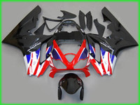 Wholesale Triumph Race Fairing - Black white red blue Fairing kit For Racing TRIUMPH Daytona 675 High Quality EMS Free #T6583