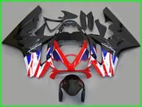 triunfo 675 carenagem branca azul venda por atacado-Preto / branco / vermelho / azul kit de Carenagem Para Corridas TRIUMPH Daytona 675 Alta Qualidade EMS Livre # T6583