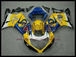 Wholesale Gsxr Black Yellow - high quality blue yellow white black fairings for SUZUKI GSXR1000 00 01 02 GSX-R1000 GSXR 1000 2000-2002 bodywork s66773