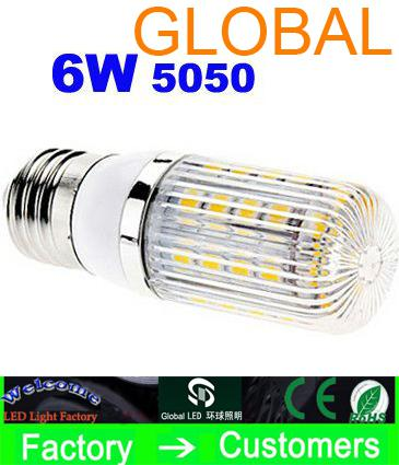 Couverture blanche fraîche E27   G9   E14 de la lampe de maïs 650 SMD 36 LED de blanc blanc froid