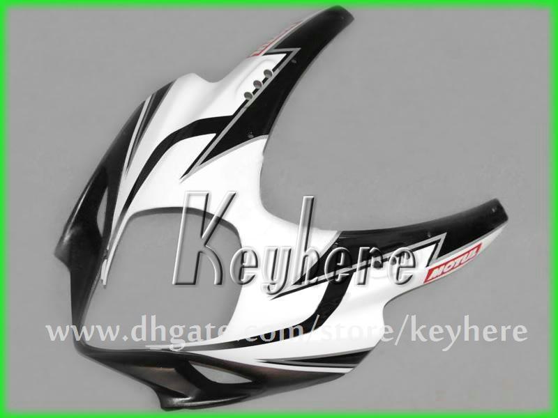 Gratis Custom Race Fairing Kit voor Suzuki 2007 2008 GSX R1000 GSXR 1000 07 08 K7 BIJGELIJKHEID G3J Corona White Black Aftermarket Motorcycle Onderdelen