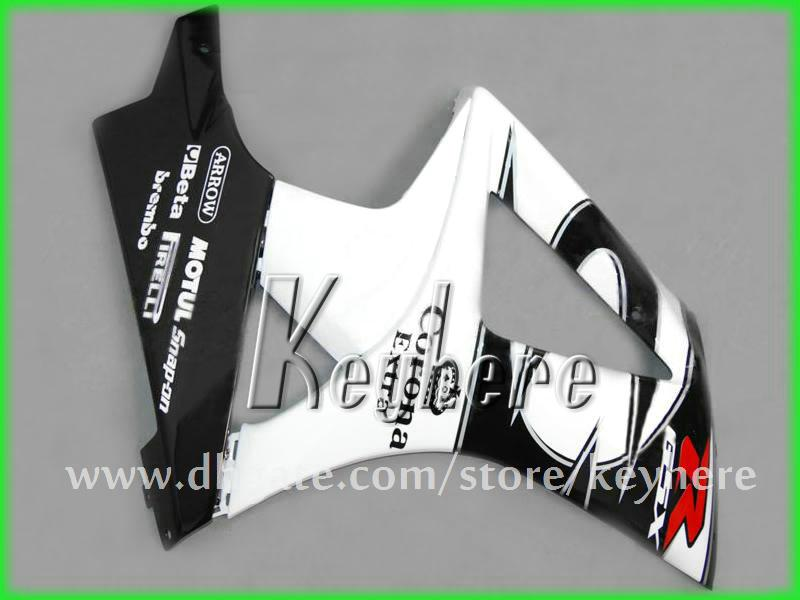 Grátis custom carenagem kit de carenagem para SUZUKI 2007 2008 GSX R1000 GSXR 1000 07 08 carenagens K7 G3j Corona branco preto aftermarket peças da motocicleta