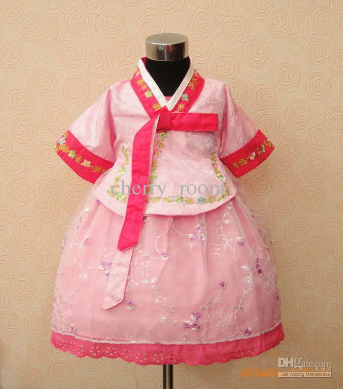 Compre Corea Hanbok Tradicional Traje De Niñas, Niños Niño Coreano ...