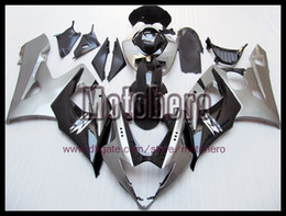 Wholesale Black Body Molding - Injection molding gloss black silver body for GSXR1000 05 06 GSX-R1000 05-06 K5 GSXR 1000 2005 2006 ABS fairing kit + 3gifts e6677