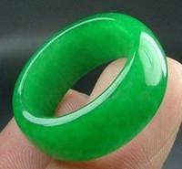 Wholesale Jade Rings Carvings - wonderful natural green jade ring free shipping natural green jade carved