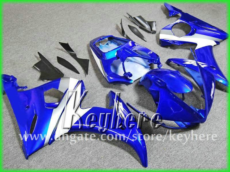 Livre 7 presentes Custom ABS corrida carenagem kits para YZF R6 2003 2004 YZFR6 03 04 YZF-R6 carenagens G9h branco azul preto aftermarket peças da motocicleta