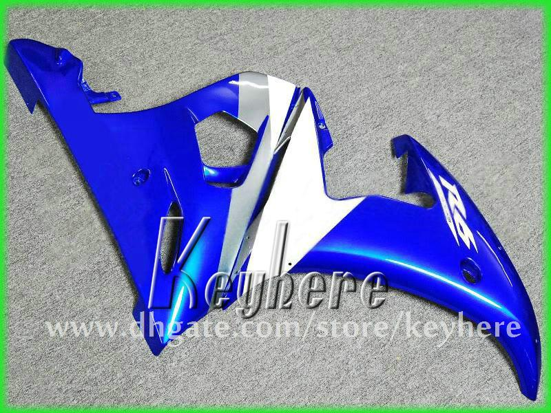 7 cadeaux ABS kits de carénage de course personnalisés pour YZF R6 2003 2004 YZFR6 03 04 carénages YZF-R6 pièces de moto G9h noir bleu blanc