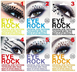 fashion liner 2019 - Fashion sexy women 6 styles Eye Majic eye rock with diamond eye liner tatoo party halloween Color diamond mixs color uni
