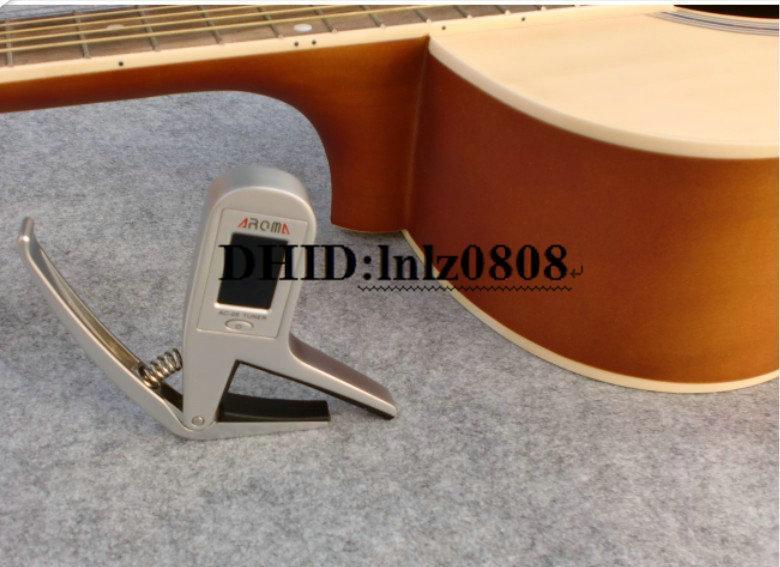 무료 배송 정확한 어쿠스틱 기타 크로 매틱 튜너 일렉트릭 기타 트랜스 포즈 클램프 카포
