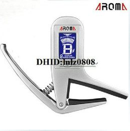 Wholesale Guitar Capo Silver - Free shipping Accurate Acoustic Guitar Chromatic Tuner electric guitars Transposition clamp Capo