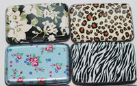 Wholesale Wholesale Zebra Stripe Beads - All kinds of style printing aluminum credit card wallet leopard flower printing zebra