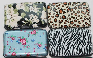 All kinds of style printing aluminum credit card wallet leopard flower printing zebra on Sale