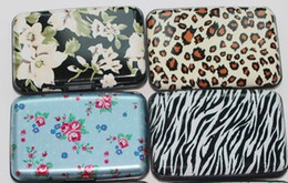 Wholesale Zebra Beads Wholesale - All kinds of style printing aluminum credit card wallet leopard flower printing zebra