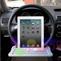 Wholesale Ipad Wheel - free ship car computer desk car computer racks ipad dedicated car laptop car stand Steering Wheel Stands car holder