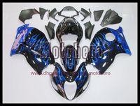carenados de hayabusa negro azul al por mayor-envío gratis llama azul brillante carenados para GSXR1300 Hayabusa 97 07 GSX R1300 97-07 1997 1998 1999 2007 kit de carenado s8993