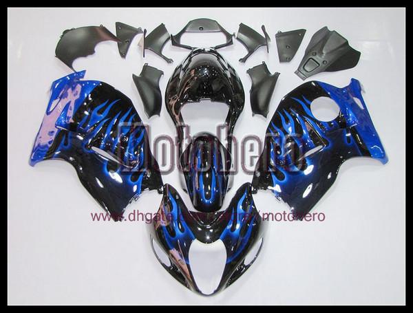 envío gratis llama azul brillante carenados para GSXR1300 Hayabusa 97 07 GSX R1300 97-07 1997 1998 1999 2007 kit de carenado s8993