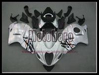 Wholesale Hayabusa Fairing White Silver - Pre-drilled white silver black fairings for SUZUKI GSXR1300 Hayabusa 97-07 GSX R1300 1997-2007 fairing kit bodywork & windscreen y57822