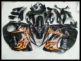Wholesale Hayabusa Fairing Injection - Injection mold orange gloss black for SUZUKI GSXR1300 08 09 GSX-R1300 2008 2009 2008-2009 fairing kit + 3gifts e79223