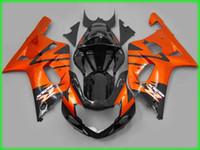 Wholesale Motorcycle Race Fairing Kits - Custom motorcycle fairing kit for SUZUKI 2001 2002 2003 GSXR 600 750 01-03 ABS racing fairings body