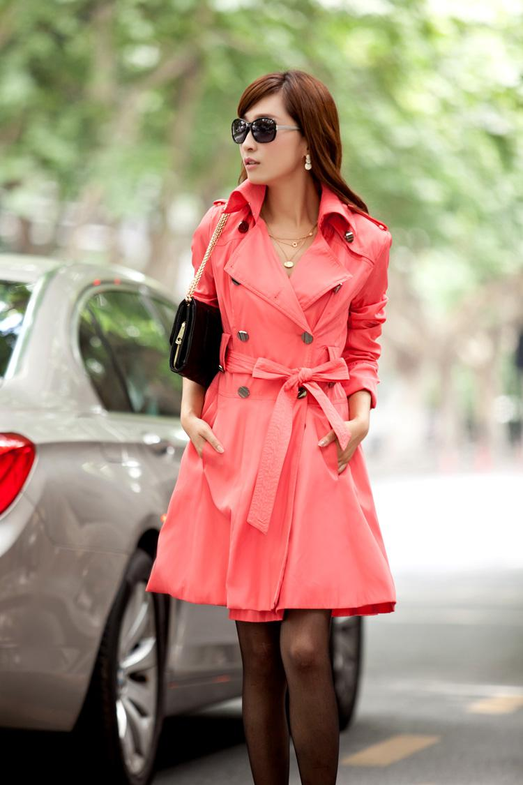2016 New Spring Dress Female Women'S Trench Coat Of Cultivate
