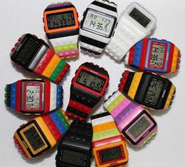 Wholesale Shhors Led - Creative Shhors Digital Watch Multifunction Candy Jelly Silicone Watches Unisex Fashion Watch 100pcs Free shipping