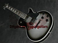 Wholesale Silverburst Electric Guitar - Custom Shop Deluxe Silverburst 2 pickup Electric Guitar Chinese guitar