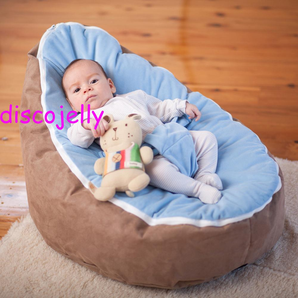 PROMOTION Doomoo Baby Bean Bag Snuggle Bed Portable Seat Nursery Rockermultifunctional 2 Tops Beanbags Chair BROWN Light Blue