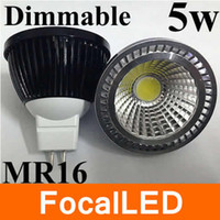 Dimmerabile 5W COB LED Lampadina 500lm E14 E27 GU10 MR16 LED Lampada Spotlight DC12V ac 85-265v