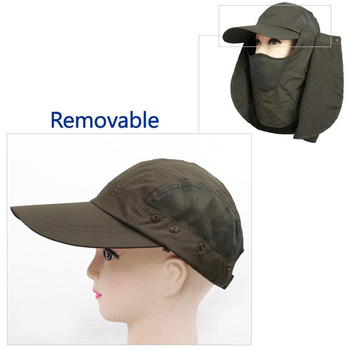 NOVITÀ Verde Outdoor Summer Sun Protezione solare Protezione UV Cappello da pesca Camping Escursionismo Blu / Grigio Spedizione gratuita