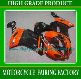kawasaki orange black Canada - Kawasaki fairing high quality moto parts ZX6R 07 08 ZX-6R black orange racing motorcycle fairings body work Ninja with 7 gifts
