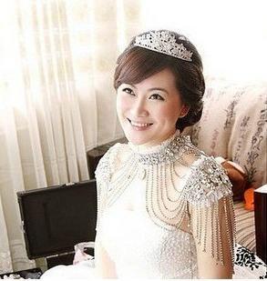 New Style Epaulet Jacket Crystal Jewelry Necklace Jacket Wedding Bridal Dresses Dress Gown