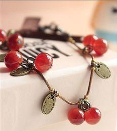 2019 шарики вода Вишневый гранат ретро длинное ожерелье, ретро ожерелье, женское ожерелье.