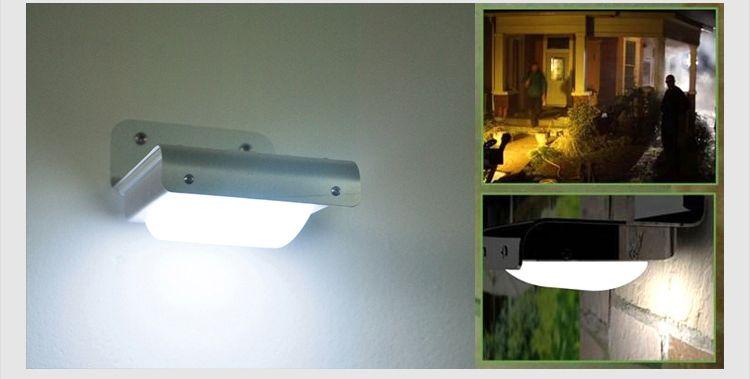 Solaire Alimenté LED Capteur de Corps Lumière Capteur Sonore 16 LEDs Blanc Froid Imperméable À L'eau En Plein Air led lampe Mur Lumière Jardin Lampe DHL Navire
