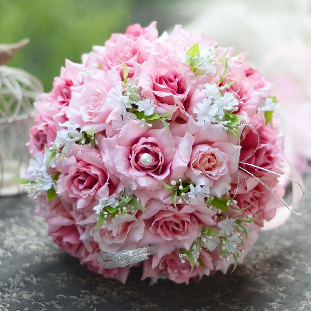 Dark Pink Wedding Flowers: Beautiful Romantic Pe Wedding Bouquet Dark Pink Artificial