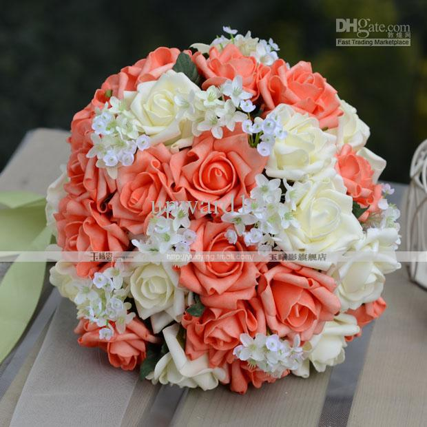 New Style Handflower Wedding Bouquet Artificia 30 Rose Flowers