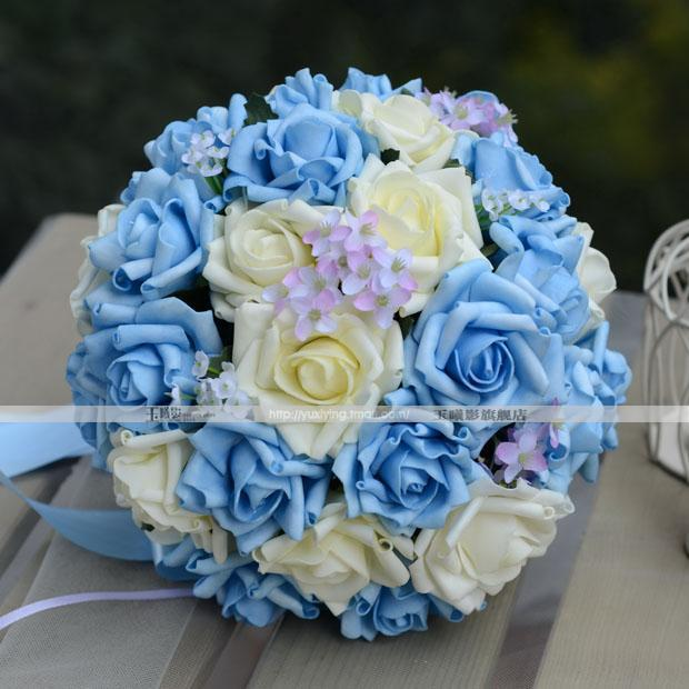 blue flowers wedding bouquet new style handflower wedding bouquet artificia 30 1934