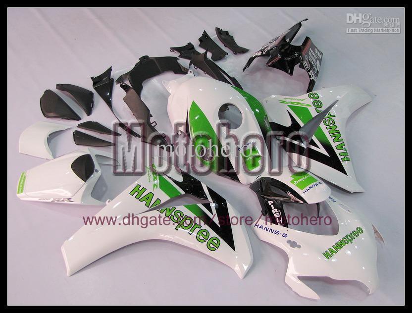 Inyección verde blanco negro cuerpo para HONDA CBR1000 08 09 10 11 CBR 1000RR 08-09 2008 2009 2010 2011 kit de carenado e668