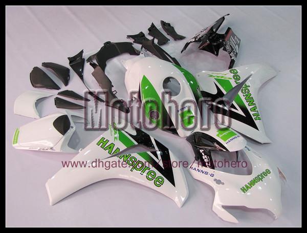 Injection green white black body for HONDA CBR1000 08 09 10 11 CBR 1000RR 08-09 2008 2009 2010 2011 fairing kit e668