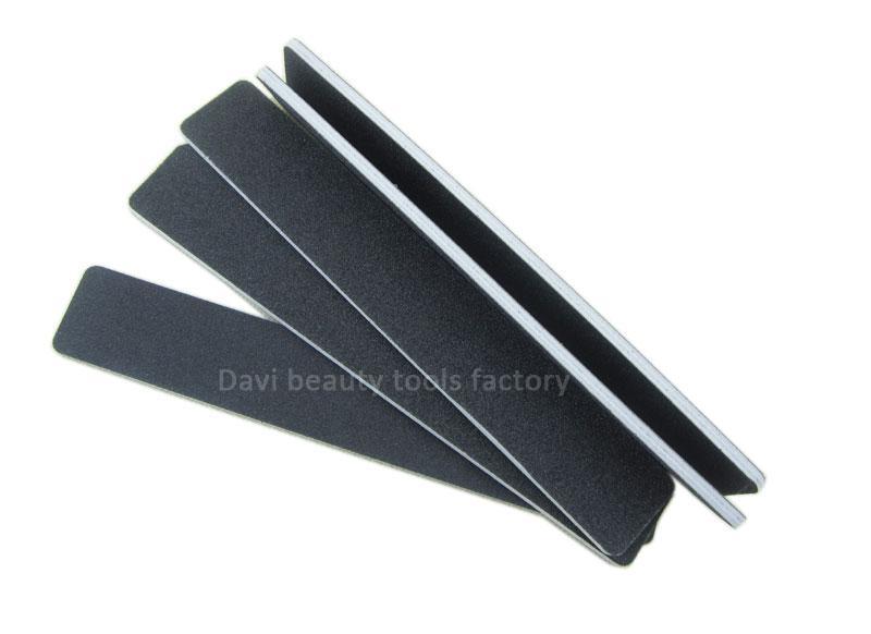 50ピース/ロット長方形の黒い砂紙ネイルファイル100 180エメリーボードネイルアート送料無料