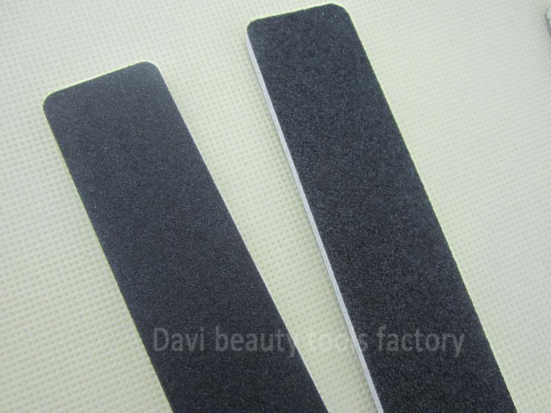 50 unids / lote Rectangular negro lija 100 100 esmeril de uñas para arte del clavo ENVÍO GRATIS
