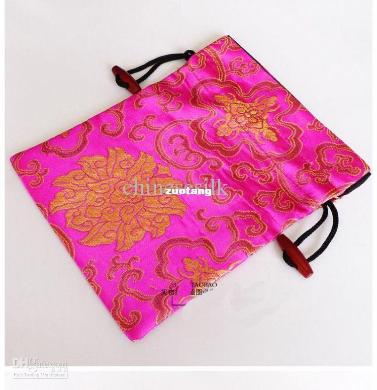 Silk Printed Big Candy Bags Reusable Gift Packaging Drawstring Storage Bag 15pcs/lot mix color Free