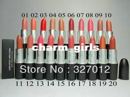 $enCountryForm.capitalKeyWord Canada - 20 pcs lot New lustre lipstick rouge a levres 3g makeup lipstick! Will English name